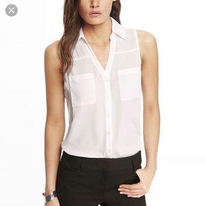 NWOT Express Sleeveless Portofino Shirt
